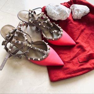 Valentino pink studded heels size 36